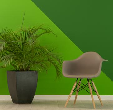 διάφορες αποχρώσεις του πράσινο σε τοίχο